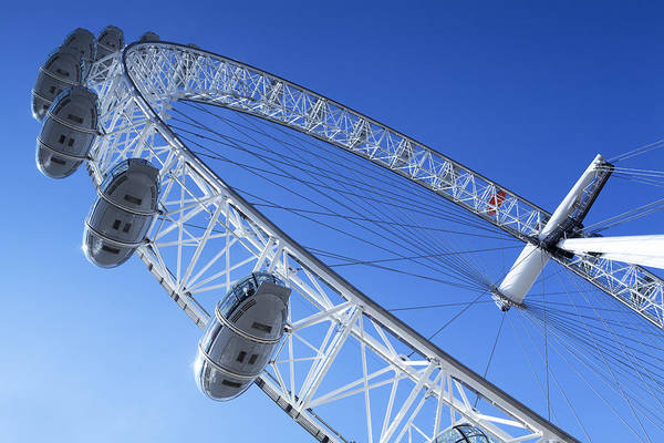 Southbank Photograph - The London Eye, Close-up by MGL Meiklejohn Graphics Licensing
