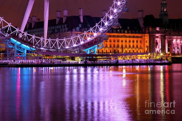 Wall Art - Photograph - The London Eye by Donald Davis