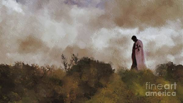 Knight Painting - The Lone Crusader by Pierre Blanchard