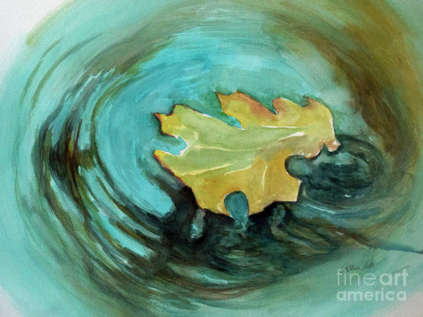 Painting - The Lone Leaf by Allison Ashton