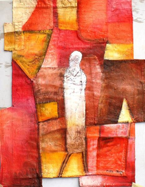 Wall Art - Painting - The Lone Man by Millicent Okocha