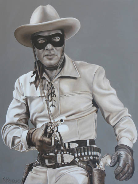 Wall Art - Painting - The Lone Ranger Rides Again By K Henderson by K Henderson