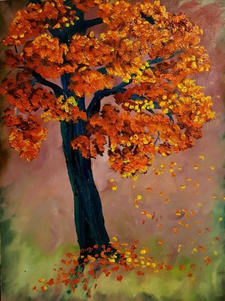 Painting - The Lone Tree          62 by Cheryl Nancy Ann Gordon