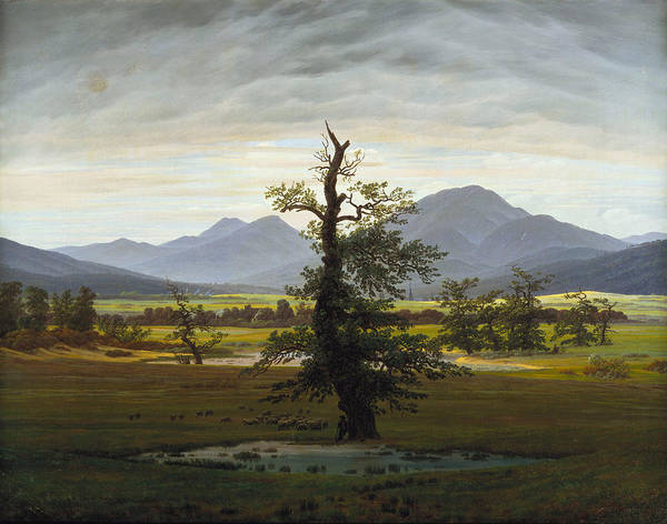 Painting - The Lone Tree by Caspar David Friedrich