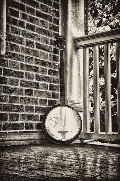Bluegrass Photograph - The Lonely Banjo by Bill Cannon
