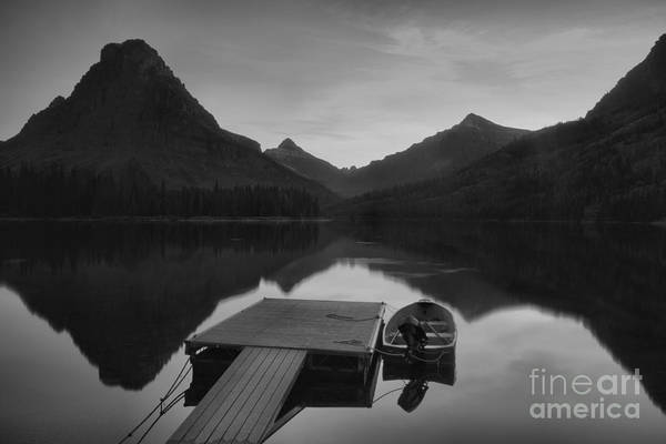 Photograph - The Lonely Boat In Black And White by Adam Jewell