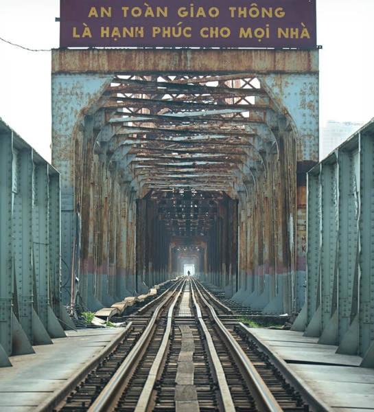 Photograph - The Long Bien Bridge Vietnam by Matt Shiffler
