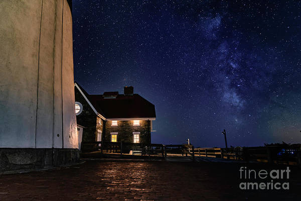 Photograph - The Long Island Fire Island Lighthouse Milkyway At Night  by Alissa Beth Photography