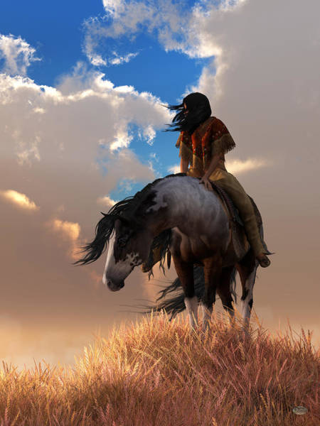 Prairie Home Digital Art - The Long Journey Home by Daniel Eskridge