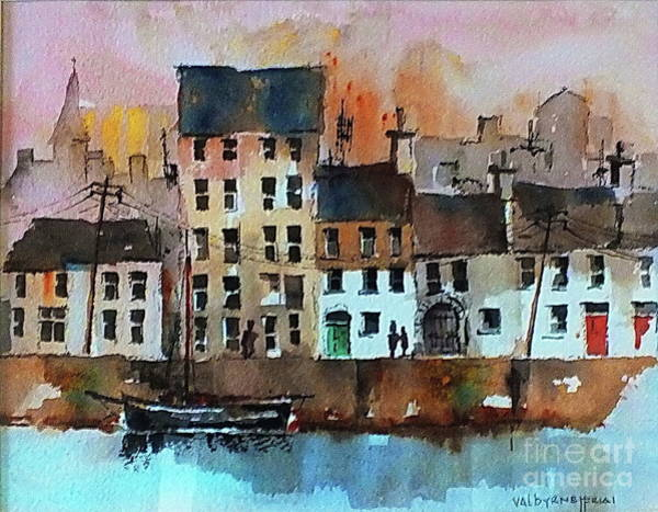 Painting - F 713  The Long Walk, Galway City.. by Val Byrne