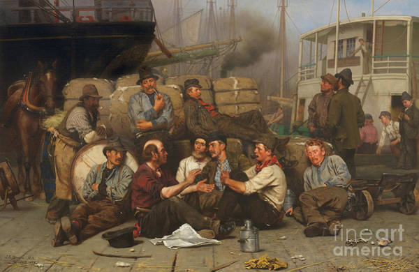 Wall Art - Painting - The Longshoremen's Noon by John George Brown