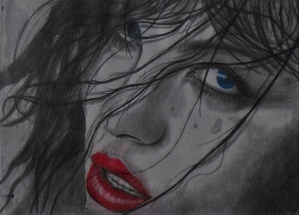 Drawing - The Look by Chuck Caputo