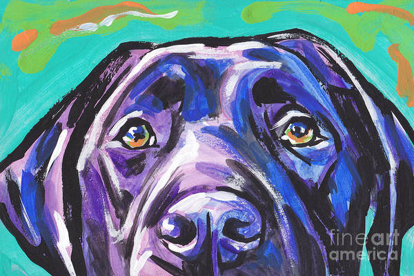 Labrador Painting - The Look Of Lab by Lea S