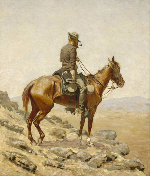 Southwest Wall Art - Painting - The Lookout by Frederic Remington