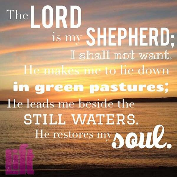 Design Wall Art - Photograph - The Lord Is My Shepherd; I Shall Not by LIFT Women's Ministry designs --by Julie Hurttgam