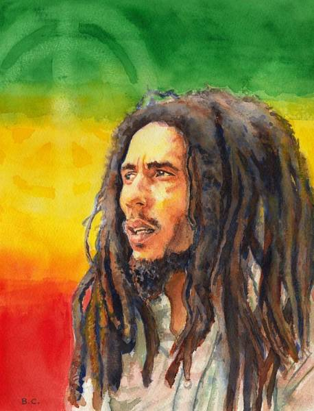 Reggae Wall Art - Painting - The Lord Of Peace Bob Marley by Brian Child