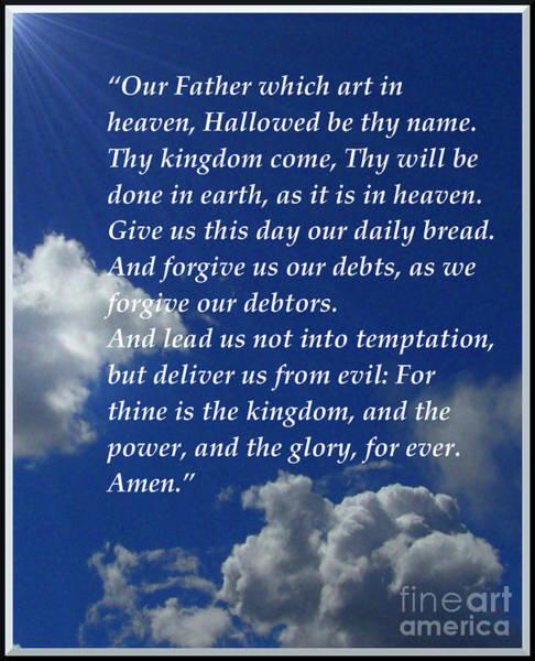 Digital Art - The Lord's Prayer by Charles Robinson