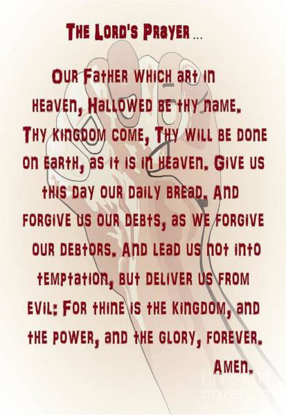 Scriptural Painting - The Lord's Prayer by Eloise Schneider Mote