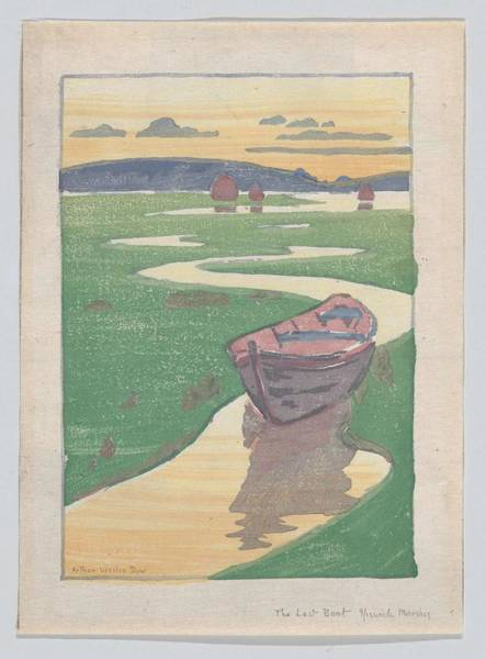 Panda Drawing Painting - The Lost Boat , Arthur Wesley Dow by Artistic Panda