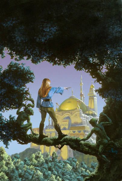 Summoning Wall Art - Painting - The Lost Palace by Richard Hescox