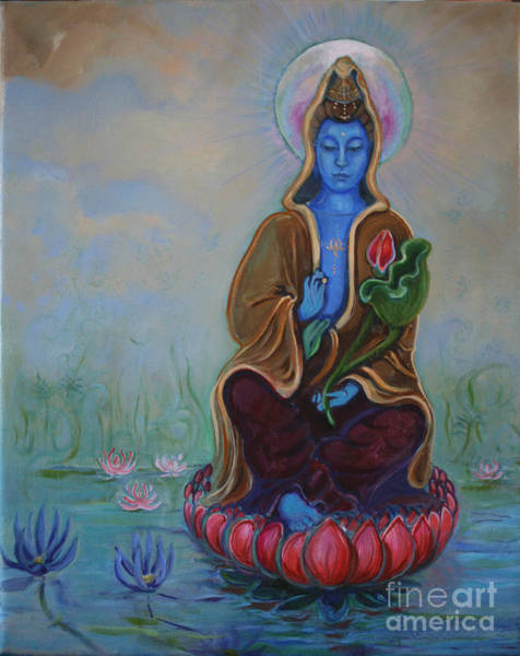 Laksmi Wall Art - Painting - The Lotus Seed by Catherine Moore