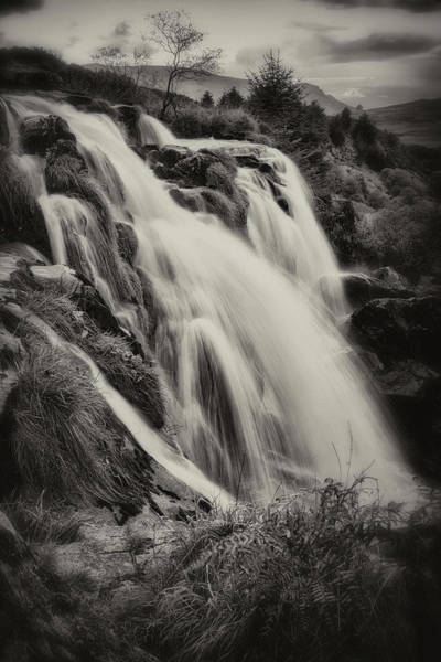 Photograph - The Loup Of Fintry In Black And White by Jeremy Lavender Photography