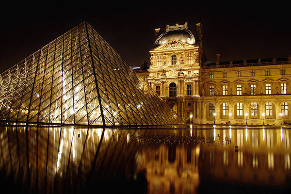 Photograph - The Louvre by Mark Currier