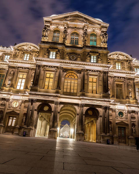 Photograph - The Louvre Museum At Night by James Udall