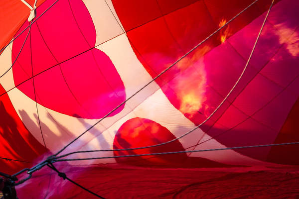 Photograph - Hearts A' Fire - The Love Hot Air Balloon by Ron Pate