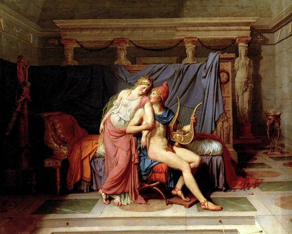 Painting - The Love Of Helen And Paris by Jacques Louis David