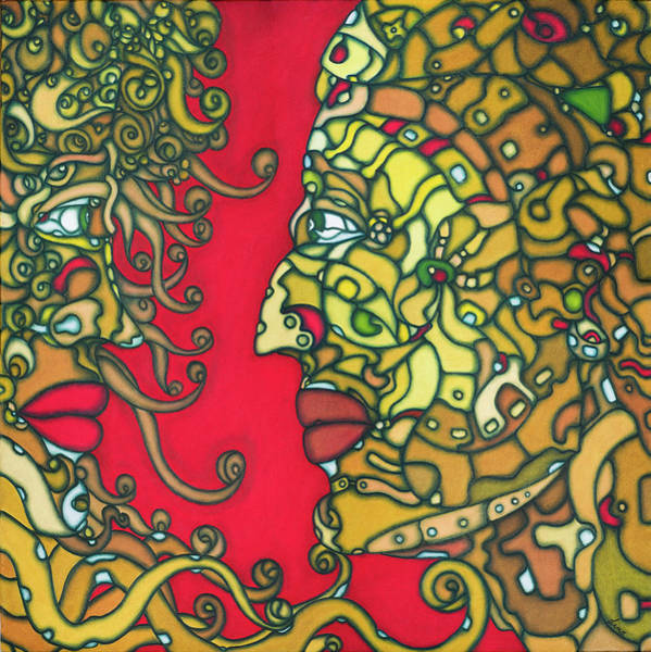Painting - The Lovers 2013a003 by Lino Vicente