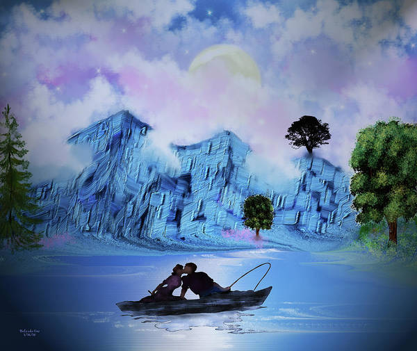 Digital Art - The Lovers by Artful Oasis