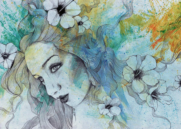 Beautiful Girl Drawing - The Lowest Common Denominator by Marco Paludet