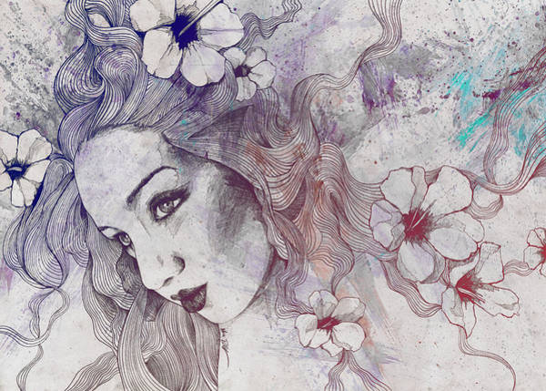 Beautiful Girl Drawing - The Lowest Common Denominator - Rainbow by Marco Paludet