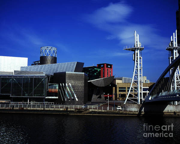 Greater Manchester Wall Art - Photograph - The Lowry Centre Salford Quays Salford Greater Manchester  England by Michael Walters