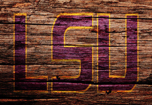 Arkansas Mixed Media - The Lsu Tigers 1b by Brian Reaves