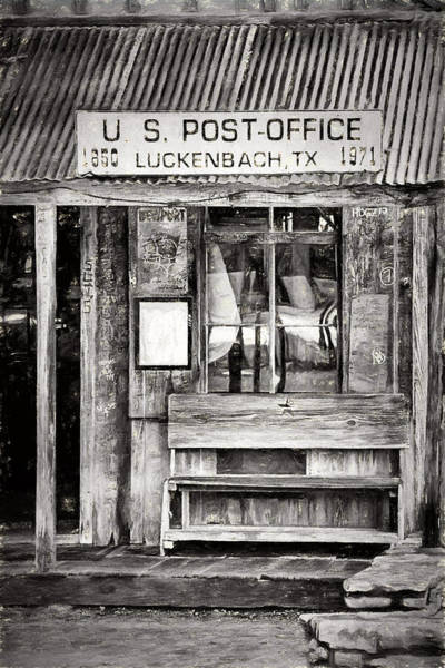 Wall Art - Digital Art - The Luckenbach Post Office by JC Findley