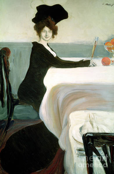 Champagne Painting - The Luncheon by Leon Bakst