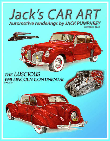 Wall Art - Painting - The Luscious 1941 Lincoln by Jack Pumphrey