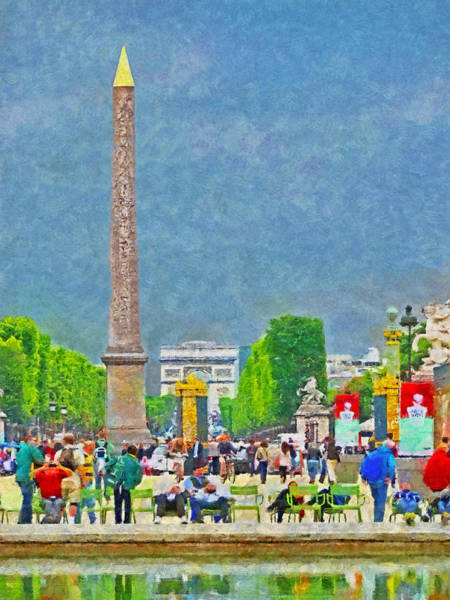 Digital Art - The Luxor Obelisk At The Place De La Concorde by Digital Photographic Arts