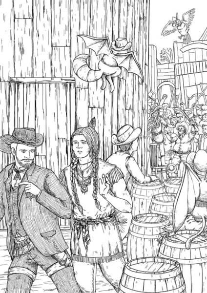 Drawing - The Lynch Mob by Reynold Jay