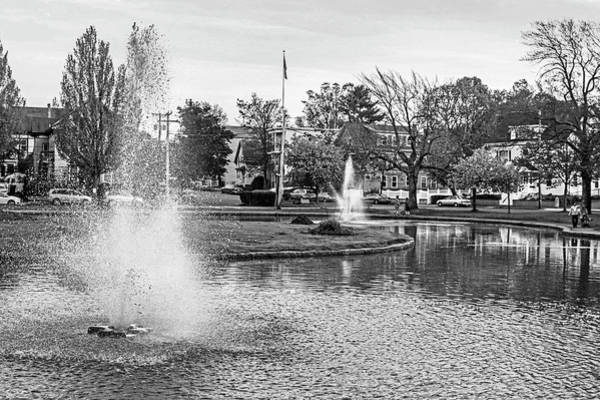 Photograph - The Lynn Goldfish Pond Lynn Ma Black And White by Toby McGuire