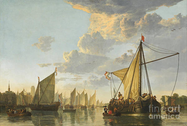 Circa Painting - the Maas River by Celestial Images