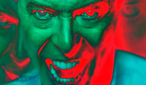 Wall Art - Digital Art - the mad bad genius of David Bowie by Martin James