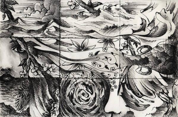 Sorcery Drawing - The Maelstrom by Rachel Christine Nowicki