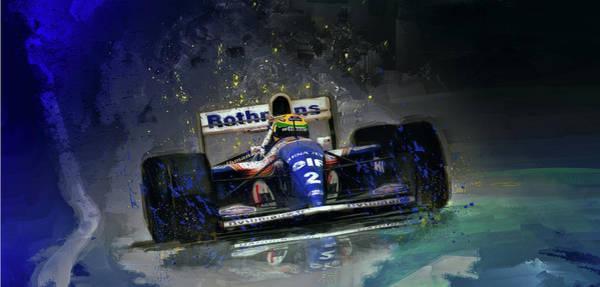 Ayrton Senna Wall Art - Digital Art - The Maestro by Alan Greene