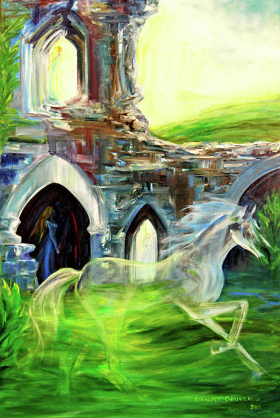 Corfe Painting - The Magic And Majesty Of Corfe Castle by Jennifer Christenson