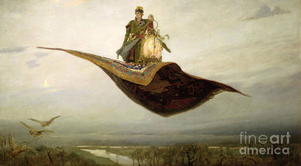 Wall Art - Painting - The Magic Carpet by Apollinari Mikhailovich Vasnetsov