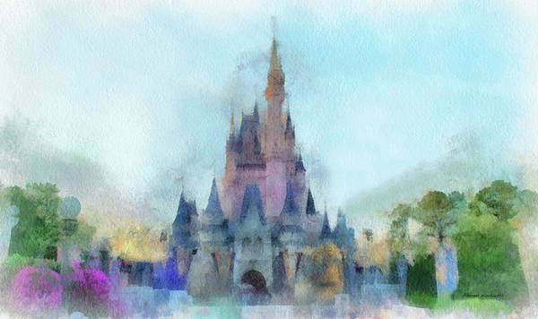 Wall Art - Photograph - The Magic Kingdom Castle Wdw 05 Photo Art by Thomas Woolworth