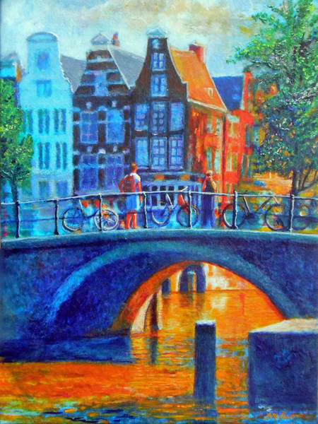 Amsterdam Painting - The Magic Of Amsterdam by Michael Durst